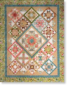 On Point Quilt Pattern Set by Bits n Pieces  again this one is beautiful as is just right the colors and prints
