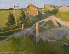 Disappearing Sun - oil, canvas Russian Master: Kamaeva Tamara