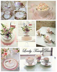 antique, vintage, decor, china, teacup