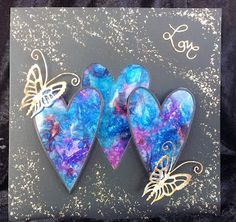 Barnsley Crafter: Crystal Hearts and Gilded Butterflies