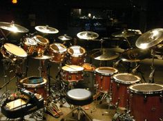 neil peart drum set