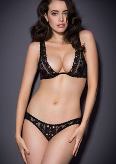 Stevie Bra, Brief, and Suspender, Agent Provocateur Lingerie, Stevie This intoxicating set is crafted from intricate French lace adorned with golden eyelet detailing that glints in the light and offers a beguiling success of glamour.
