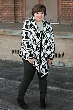 Hems for Her Trendy Plus Size Fashion for Women: What I'm Wearing Right Meow: ASOS Kitty Cardigan