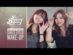 Pony's Beauty Diary - Single Eyelid Make-Up (with English subs) features Glam Cream. A beautiful base, is the to a flawless look! Monolid Makeup, Asian Eye Makeup, Henna Designs, K Beauty, Beauty Makeup, Korean Beauty, Asian Beauty, Pony Makeup, Foundation Routine