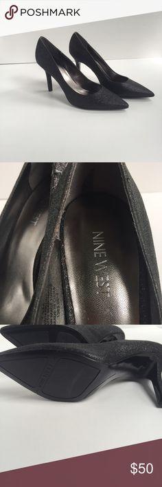 ✨New✨Nine West Black Sparkly Heels Never Worn, matte black sparkles. Very high quality. Nine West Shoes Heels
