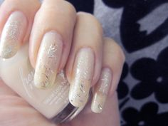 Nude nails with sparkles by www.funkyandfifty.blogspot.com
