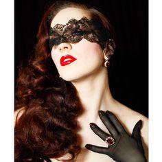 Crop of a photo by @bettina_may #bettinamayphotography #burlesque #mask #lace #filmnoir #photoshoot