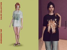 The Sims 4 Oversized Top Sims 4 Teen, Sims Four, Sims 4 Toddler, Sims 4 Mm, My Sims, Sims 4 Anime, The Sims 4 Cabelos, Sims 4 Game Mods, Sims 4 Characters