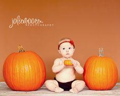 Baby Fall photo idea, Pumpkin, Toddler Fall, Halloween