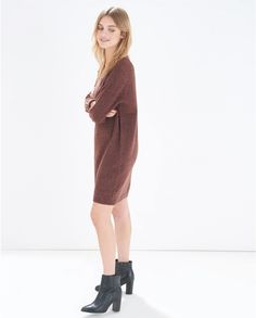 Milano Knitted Dress - Atterley Road - to wear with patterned tights and tall knee high boots $82