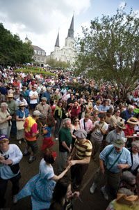 Celebrate life in the French Quarter by coming to French Quarter Festival every Spring and enjoy Louisiana's largest FREE music festival! #NewOrleans #NOLA