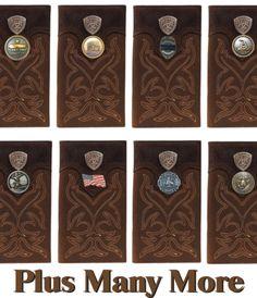 Custom 3D Belt Company New Masonic Eastern Star Brown and Tan Cow Skull Wallet