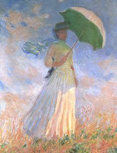 Dame mit Sonnenschirm, Studie von Claude Monet
