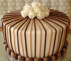Elegant Birthday Cake  on Cake Central