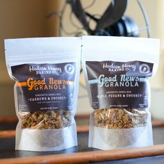 Our Good News Granola makes a great gift for a foodie!  Baked in small batches with great ingredients like olive oil/coconut oil, pecans, almonds, cashews.  Yum!