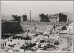 Kayseri (Turkey): view of city walls (?). Metropolitan Museum of Art (New York, N.Y.). Department of Islamic Art. Ernst Herzfeld Papers. #ruins