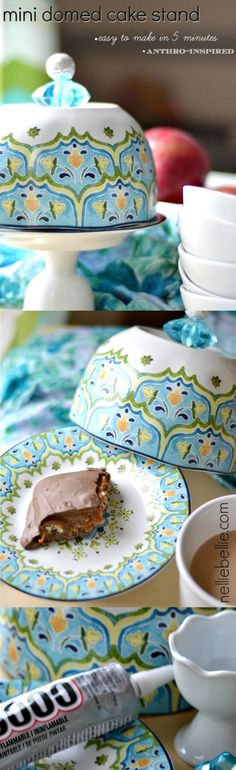 Make a mini cake stand fast and easily! A great gift idea!