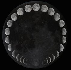 Moon phases.  Found on Stargazerslounge.com forum. The Moon in Phases - A project Author: Hyper Giant