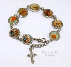 Saints Bracelet with Guadalupe Free Shipping $4.99