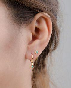 Sierlijke Opal knuffel hoepels Sterling Zilver door lunaijewelry