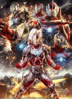 Artwork from the Marvel universe. Ultraman Tiga, Manga Anime, Anime Art, Character Art, Character Design, Japanese Superheroes, Thundercats, Monster, Kamen Rider
