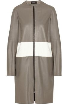 Joseph Sydney striped leather coat | THE OUTNET