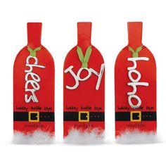 Holiday Bottle Tags - Cheers, Joy, HoHo | MonsterMarketplace.com