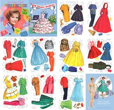 Debbie Reynolds paper dolls.