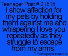 HAHAHA Showing affection for pets