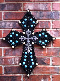 Embellished Wood Wall Cross by TraceysCrossing on Etsy, $65.00