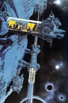 Futuristic, Sci-Fi, retro future, space fiction, life in space