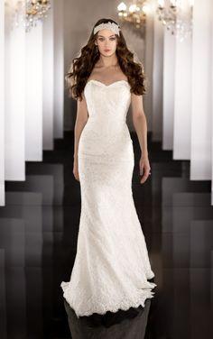 Soft sweetheart lace vintage wedding dress includes exclusive Parisian lace fine detail. Exclusive designer lace vintage wedding dress by Martina Liana.