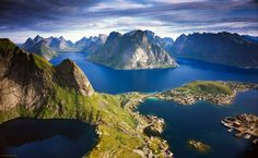 Island group Lofoten Norway