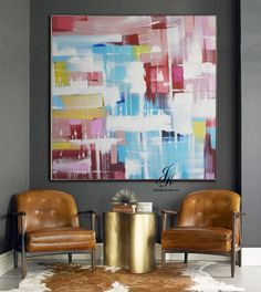 Large Abstract Acrylic Painting On Canvas by Julia Kotenko