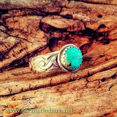 Sterling turquoise western ring