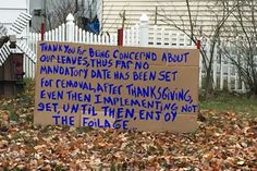A Springfield, MA, resident posted quite the response to an anonymous note complaining about his unraked leaves blowing into a neighbor's yard.