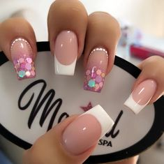 Classy Nails, Fancy Nails, Trendy Nails, Pink Nails, Gel Nails, Nail Nail, Coffin Nails, Fall Acrylic Nails, Acrylic Nail Designs