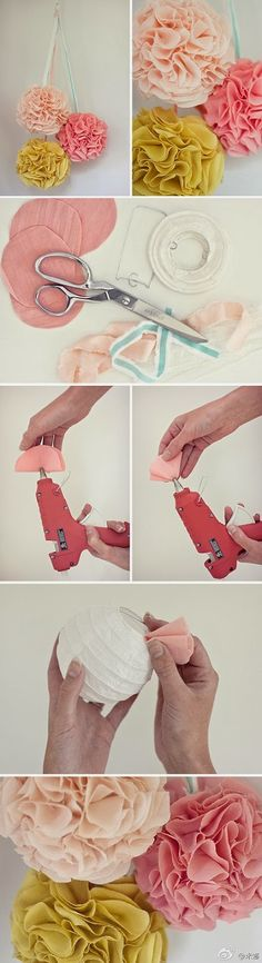 Easy DIY Crafts: Flower balls