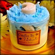CC - Luna Lullaby Homemade Candles, Scented Candles, Candles By Victoria, Blue Candy, Wax Tarts, White Glitter, Candle Wax, Sprinkles, Initials