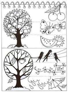Science Art, Science For Kids, Science And Nature, Leaf Coloring, Coloring Sheets, Coloring Pages, Seasons Of The Year, Four Seasons, Weather For Kids