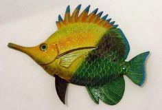 "Big 12"" Tropical Fish Bath Childrens Wall Decor Needle Nose 12TFW37LN"