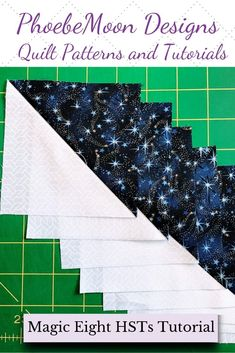How to make half square triangle quilt blocks perfectly - Just like magic, you can make 8 Half Square Triangle Quilt Blocks (HSTs)! It's fast and easy usin - Quilting For Beginners, Quilting Tips, Quilting Tutorials, Quilting Designs, Half Square Triangle Quilts Pattern, Half Square Triangles, Square Quilt, Storm Pictures, Quilt In A Day