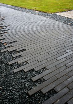 You will see people tearing out slabs and old pavers for this plank paver...