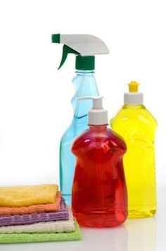 Cleaning items for grout.