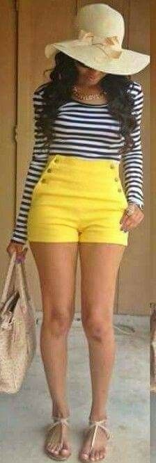 Hi waist shorts summer looks