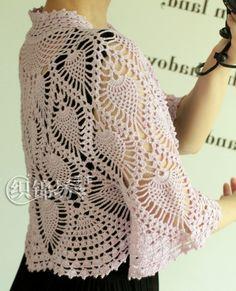 Crochet bolero — Crochet by Yana Crochet Wool, Crochet Tunic, Crochet Slippers, Crochet Clothes, Lace Patterns, Easy Crochet Patterns, Crochet Designs, Crochet Bolero Pattern, Crochet Collar