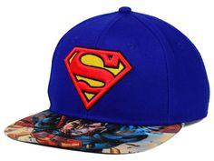 DC Comics Superman Printed Visor Snapback Hat Hats