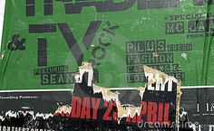 Torn Green Poster - Download From Over 24 Million High Quality Stock Photos, Images, Vectors. Sign up for FREE today. Image: 2430706
