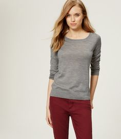 Primary Image of Button Back Sweater | Grey | Size S