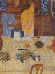 pierre bonnard(1867–1947), le châle jaune (the yellow shawl), c. 1925. oil on canvas, 127.635 x 95.885 cm. yale university art gallery, new haven, connecticut, usa http://artgallery.yale.edu/collections/objects/112769